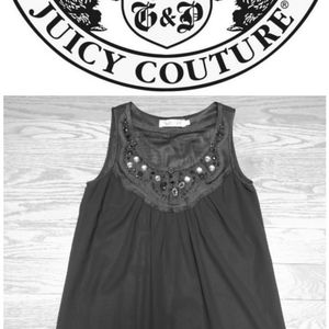 4/$100 Juicy Couture Girl Jewelled Tunic Small